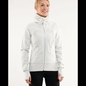 Lululemon Sparkle Cuddle Up Jacket Heathered White